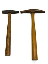 2 Vintage Tack Upholstery Hammers - Stanley And Gw Mount