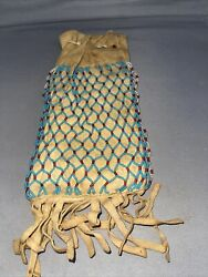 Beaded Both Sides Antique Native American Pouch Beadwork Northern Tribes