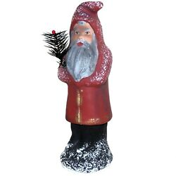 Vintage Signed Ino Schaller Germany Paper Mache Santa Claus Candy Container 12in