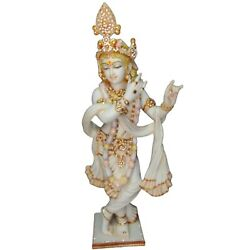 Krishna Statues Murti 100 Cm Large White Marble Idol Special Anniversary Gifts