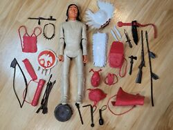 Vintage Chief Cherokee Action Figure - Near Complete - Louis Marx Johnny West