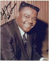 Fats Domino - Photograph Signed