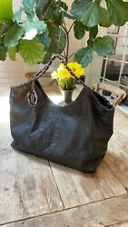 Cabas Xl Charcoal/black Caviar Leather Tote