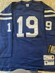 Authentic Autographed Johnny Unitas Baltimore Colts Xl Throwback Jersey