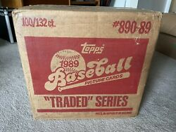 1989 Topps Traded Case Factory Sealed 100 Sets Ken Griffey Jr Rookie
