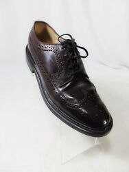 Sears Vintage 60s Long Wing Tips Menand039s Dress Shoes Sz 9 Ee Extra Wide Burgundy