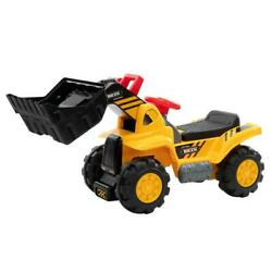 Kids Ride On Car Excavator Toy Tractor Digger W/ Safety Helmet Two Plastic Stone