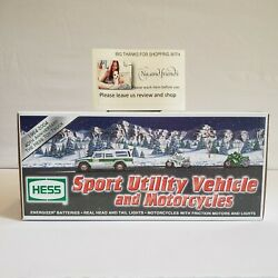 2004 Hess Gasoline Sport Utility Vehicle And Motorcycles Hess Truck New 40th Ann