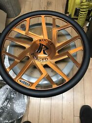 Rucci Stunna Brushed Rose Gold Steering Wheel New Never Installed Horn Adapter