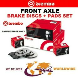 Brembo Front Axle Brake Discs + Pads For Saab 43960 2.8 Turbo V6 Xwd 2010-2012