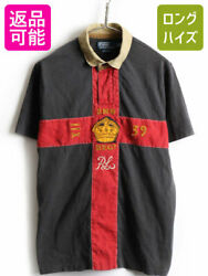 Polo Tones Cross Switching Felt Patches Embroidery Short Sleeve