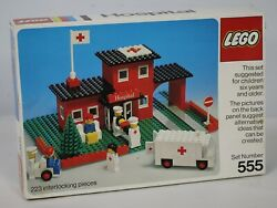 Vintage 1975 Lego Hospital Set 555 Highly Collectible Empty Box - See Images