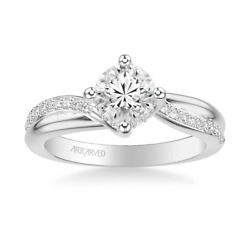 Diamond Engagement Ring Mounting Stella By Artcarved Solid 14 Karat White Gold