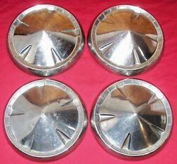 4 Set 1959 1960 Dodge Plymouth Hubcaps Wheel Covers Belvedere Savoy Fury Old Car