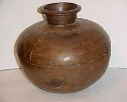 Antique Persian Islamic Middle East Metal Cooking Pot - Late 18th Century