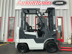 Nissan Mapl01a15jv 3000lb Pneumatic Tire Forklift On Gas Free Freight