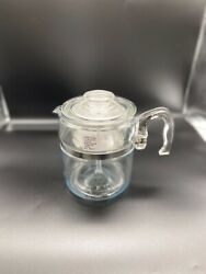 Vintage Pyrex Flameware Glass 6-9 Cup Coffee Pot Percolator 7759 Complete