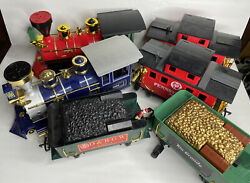 6 - Scientific Toy Train Cars G Gauge Engine Card Coal Cars And Cabooses Untested
