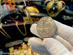 Spain Full Date 1622 Year Of The Atocha 4 Reales Pirate Gold Coins Treasure Cob