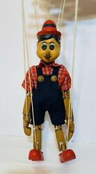 """Vintage Carved Wooden Marionette Puppet Pinocchio 14.5"""""""