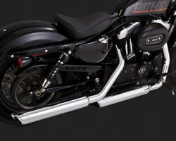 16853 - Vance And Hines - Ec Twin Slash Slip-ons For Hd Sportster And03914-17