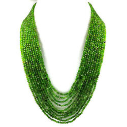 Chrome Diopside 3 Mm Round Micro Faceted Beads Gemstone Necklace 10 Strand Us178