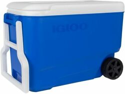 Ice Cooler 38 Qt Wheeled Rolling Portable Chest Box Food Drinks Beer Bbq Beach