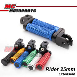 Cnc Front 25mm Extended Foot Pegs Pole For Honda Xl1000 Varadero / Abs 99-15 00