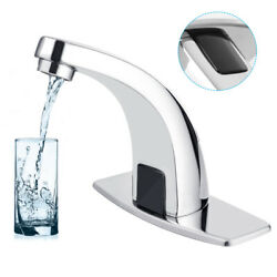 Automatic Infrared Sensor Touchless Faucet Hands Free Bathroom Vessel Sink Taps