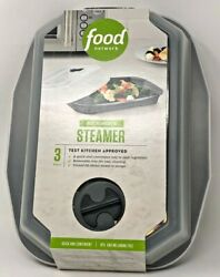 Food Network - 3-piece Microwave Steamer With Vent And Removable Tray