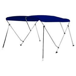 Serenelife 3 Bow Bimini Top Boat Cover With Double Walled Frame Blue Open Box