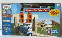 Thomas And Friends Edward The Great Boxed Set Wooden Railway Open Box