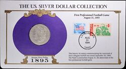 1895-s U.s. Silver Dollar Collection Morgan Fdc 1994 Coin And Stamp New Orleans