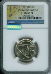 2019 D War In The Pacific Historical Park Quarter Ngc Ms 68 Pl Mac Spotless Mm