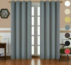 Windows Treatment Blinds Blackout Curtains Thermal Insulated Finished Drapes New