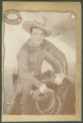 Tom Mix - Autographed Signed Photograph