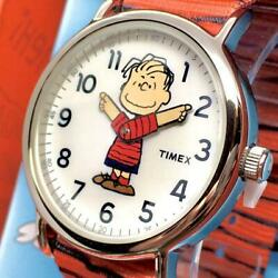 Timex × Peanuts Collaboration Weekender Linus On The Move Wrist Watch Limited