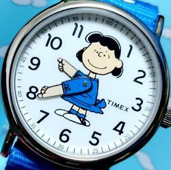 Timex × Peanuts Collaboration Weekender Lucy On The Move Wrist Watch Limited