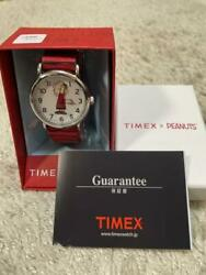 Timex × Peanuts Collaboration Linus On The Move Wrist Watch Limited For Unisex
