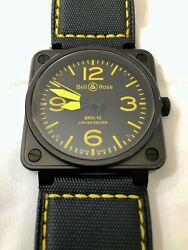 Bell And Ross Automatic Br01-92 Limited Edition Black/yellow Men's Watch