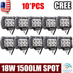 10x18w Led Work Lights Pods Spot Offroad Forcree Atv Tractor Ute 4inch Cube Pods