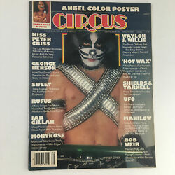 Circus Magazine April 13 1978 Kiss Peter Criss And Angel Band W Poster No Label