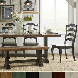 Eleanor Black Farmhouse Trestle Base French Ladder Back Berry Red Chairs And Ben