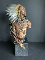 Native American Pewter Sculpture Eagle Vision 14 High 336/500