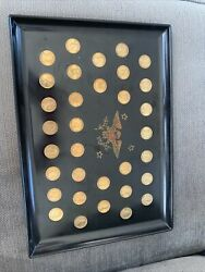 Couroc Tray With Presidential Coins Through Eisenhower Only 1 On Ebay 13andrdquo X 18andrdquo