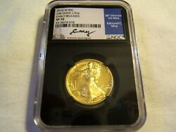 2016-w 50c Walking Liberty Half Gold Ngc Sp70 Early Releases Moy Autograph