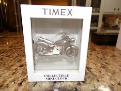 Timex Collectible Mini-clock Mint In Box - Motorcycle - Vintage 2