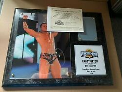 Wwe Wrestlemania 24 Xxiv Randy Orton Signed Plaque With Ring Mat 31/500 Low