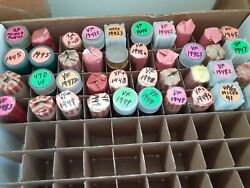 Last 40 Rolls Of F, Vf And Xf Lincoln Wheat Cents. 1940-p To 1949-s.