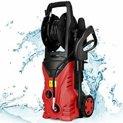 Sale2030psi Electric Pressure Washer Cleaner 1.7 Gpm 1800w With Hose Reel Red
